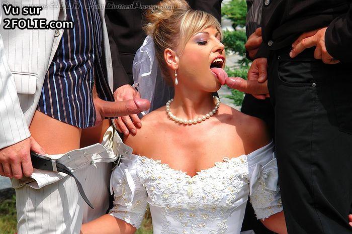 мои невесту на свадьбе в рот научилась этому